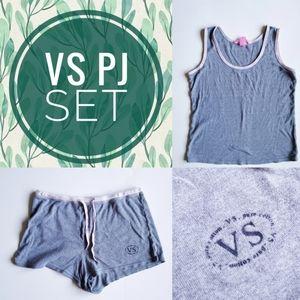 Victoria's Secret PJ Set 100% cotton sz S gray